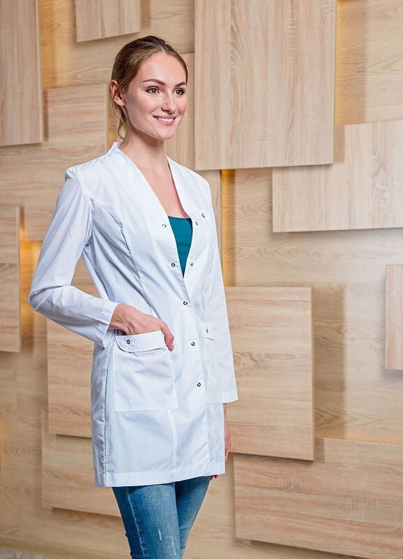 Доктор Стиль Медицинский халат «Лето» ЛЛ 2130 - фото 1
