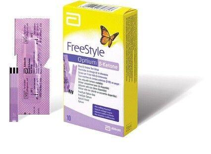 Глюкометр Abbott Diabetes Care Ltd. Тест-полоски FreeStyle Optium β-Ketone 50 шт. - фото 1