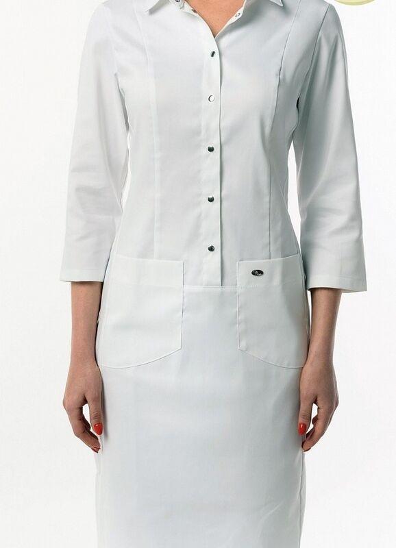 Доктор Стиль Медицинский халат «Элина» ЛЛ 2131.01 - фото 4