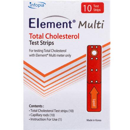 Система контроля крови Infopia Тест-полоски на общий холестерин 5шт. для Element Multi - фото 1