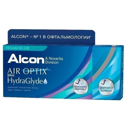 Контактные линзы Air Optix (Alcon) Plus HydraGlyde (3 линзы) - фото 3