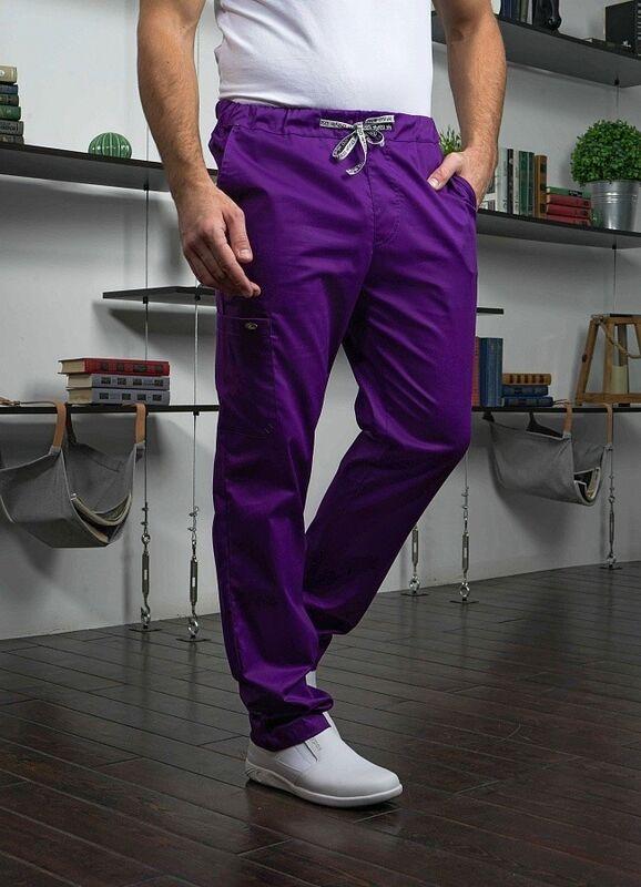 Доктор Стиль Медицинские брюки «Софт М» фиолетовые Брю 3410.15 - фото 4