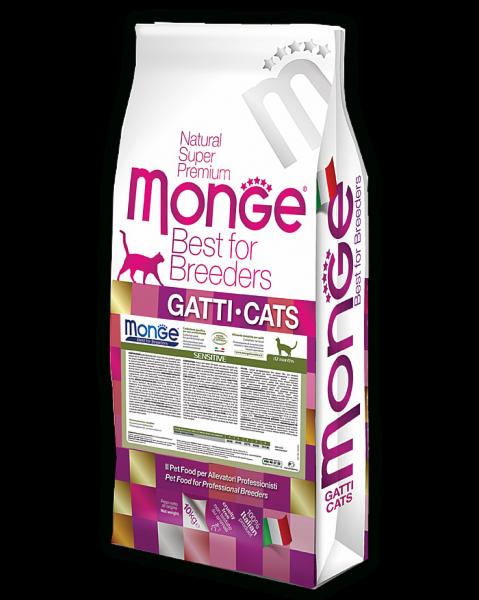 Monge Cat Sensitive корм для кошек с чувствительным пищеварением, 10 кг. - фото 1