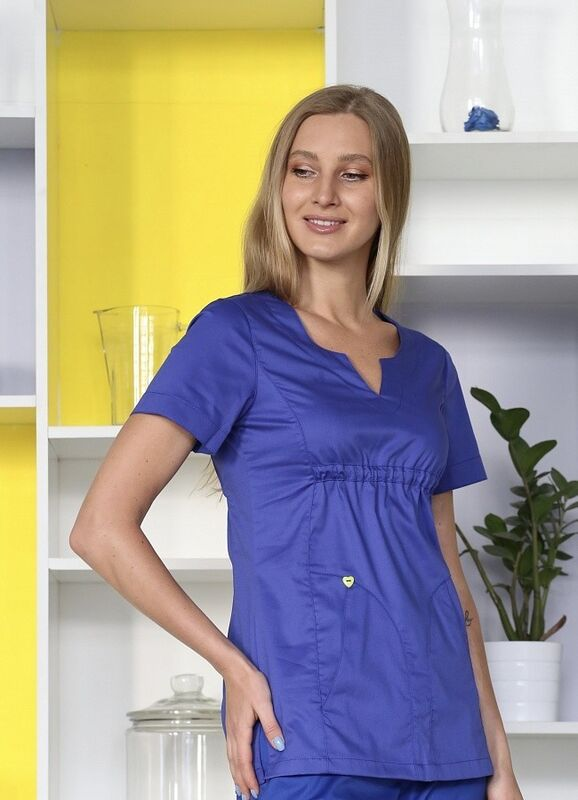Доктор Стиль Медицинская блуза «Колибри» василек ЛЛ 2232.05 - фото 3