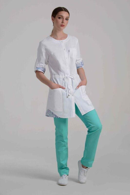 Аткарская швейная фабрика – Элит Блуза женская медицинская 21-2109 - фото 1