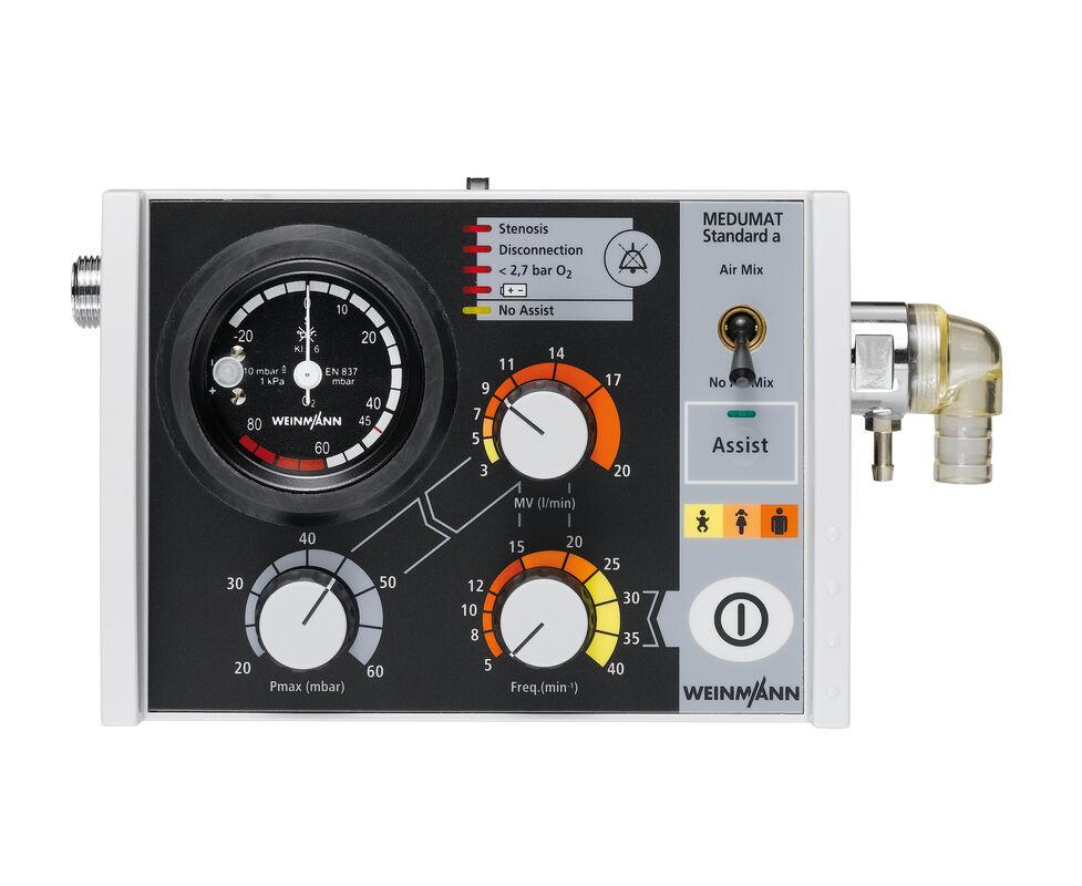 Медицинское оборудование Weinmann Простой аппарат ИВЛ для принудительной и вспомогательной вентиляции Medumat Standard A - фото 1