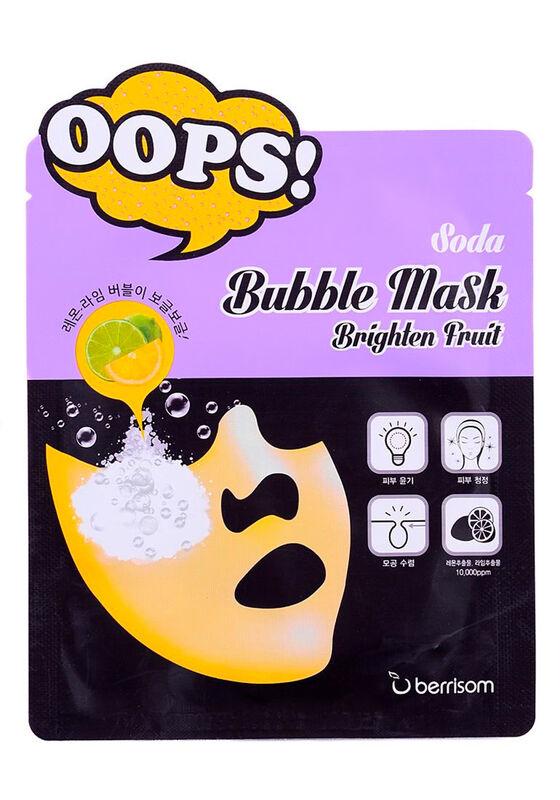 Berrissom Маска пузырьковая для сияния кожи Soda Bubble Mask Brighten Fruit 18 мл - фото 1