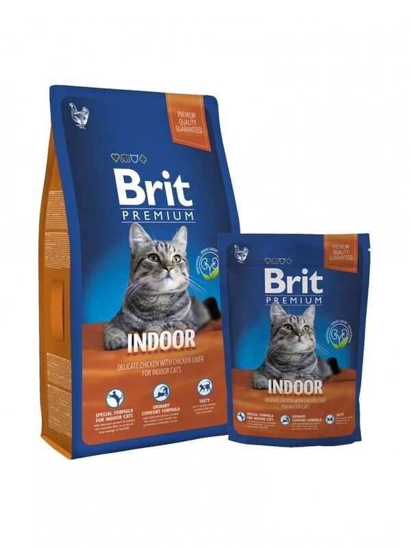 Brit Premium Cat Indoor 1,5 кг - фото 1