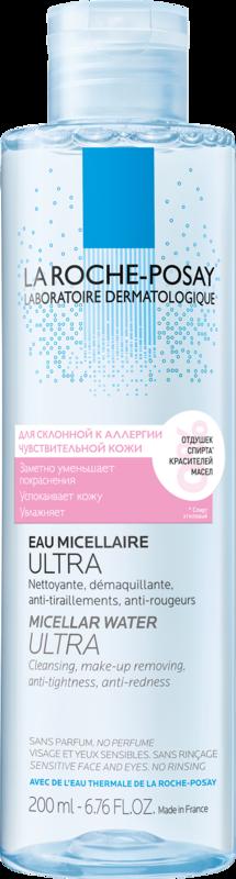 La-Roche-Posay ULTRA REACTIVE Мицеллярная вода для чувствительной кожи и кожи, склонной к аллергии, 200 мл - фото 1