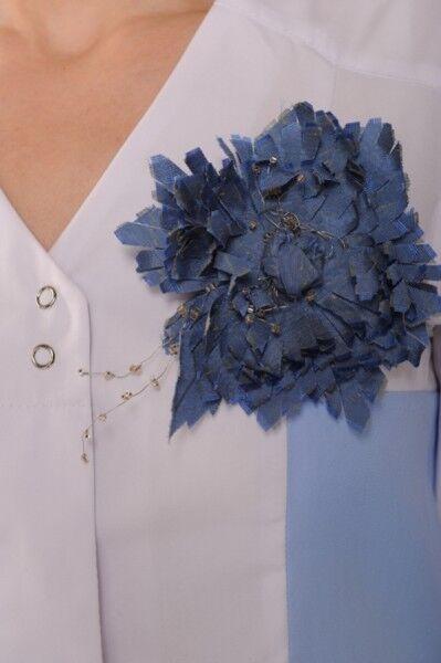 Доктор Стиль Блуза женская Виола без воротника - фото 4