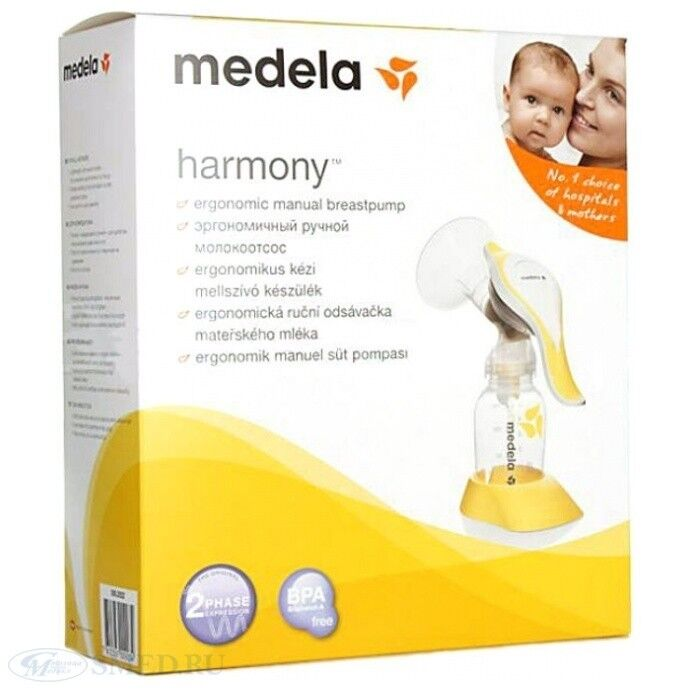 Молокоотсос Medela Молокоотсос ручной двухфазный Harmony - фото 3