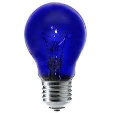ЭлектроПромМаркет Лампа 230-60 ин. синяя А55 (100) - фото 1