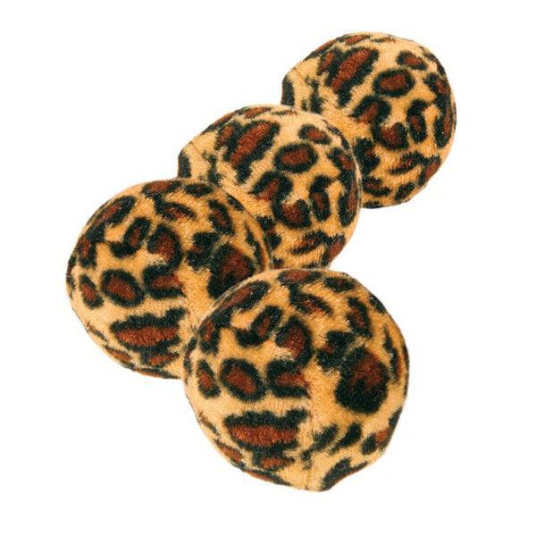 Trixie Игрушка для кошки «Мячики», диаметр 4 см (4 шт) - фото 1