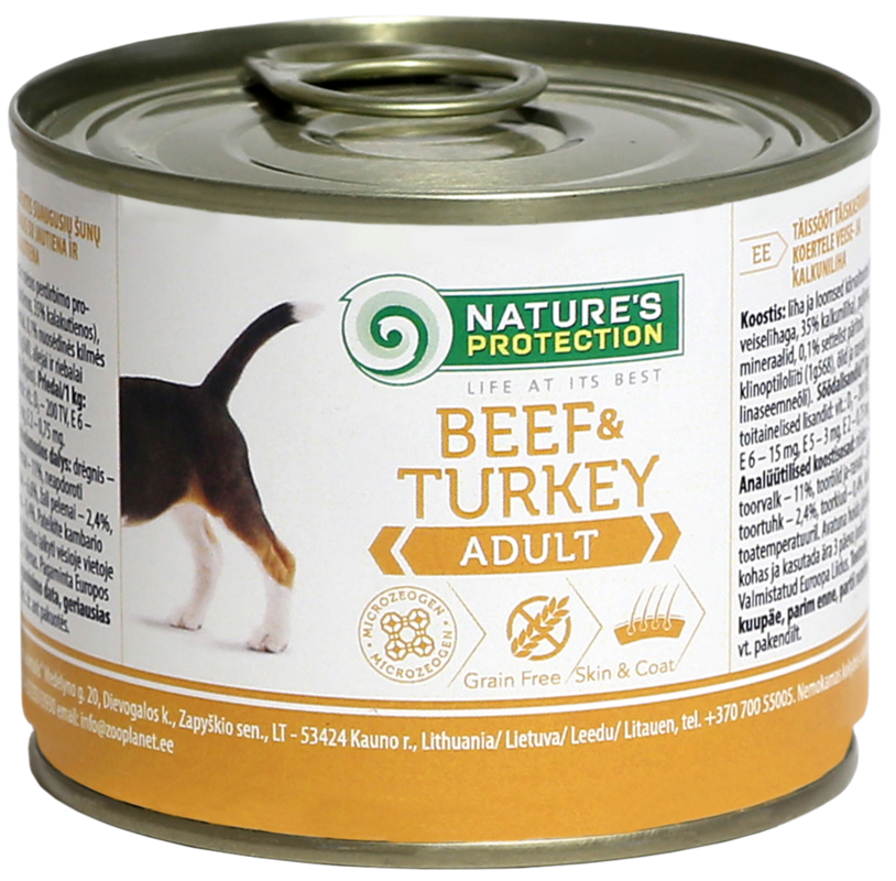 Natures Protection Adult Beef and Turkey 200 гр. - фото 1