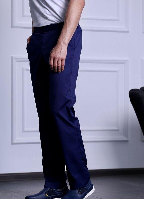 Доктор Стиль Медицинские брюки мужские «Комфорт» темно-синие Брю 3408.19 - фото 2