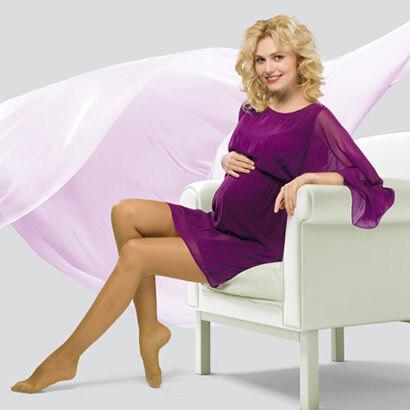 Venoteks Trend Колготки для беременных прозрачные 2 класс компрессии - фото 1
