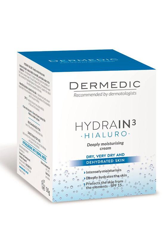 Dermedic Крем сильно увлажняющий HYDRAIN3 HIALURO SPF15, 50г - фото 1
