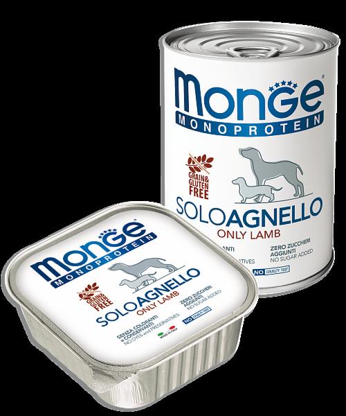 Monge Dog Solo Lamb 400гр.х12 шт. - фото 1