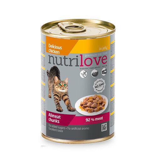 Nutrilove Chunks Cat chicken in jelly 415 гр. х 12 шт. - фото 1