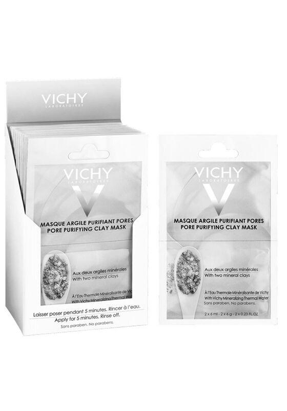 Vichy Маска с глиной минеральная очищающая поры саше 2х6мл - фото 1