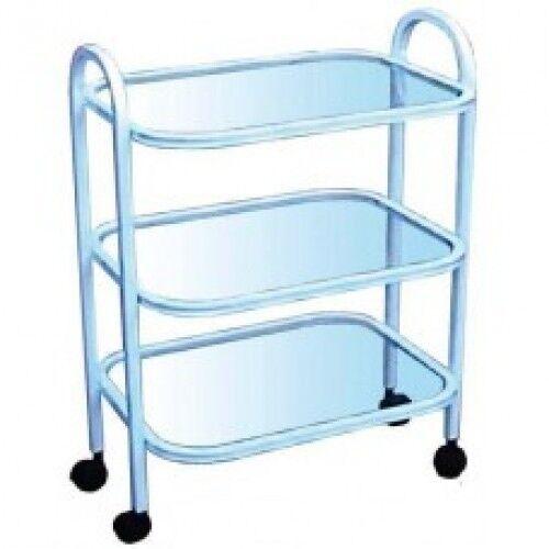 Вика-Двина Стол 3-х полочный, полки стекло - фото 1