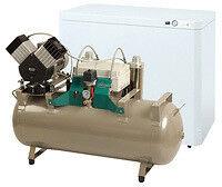 Стоматологическое оборудование Ekom Словакия Компрессор DK-50 2V/50/S/М для двух установок - фото 1
