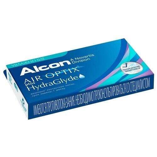 Контактные линзы Air Optix (Alcon) Plus HydraGlyde (6 линз) - фото 4