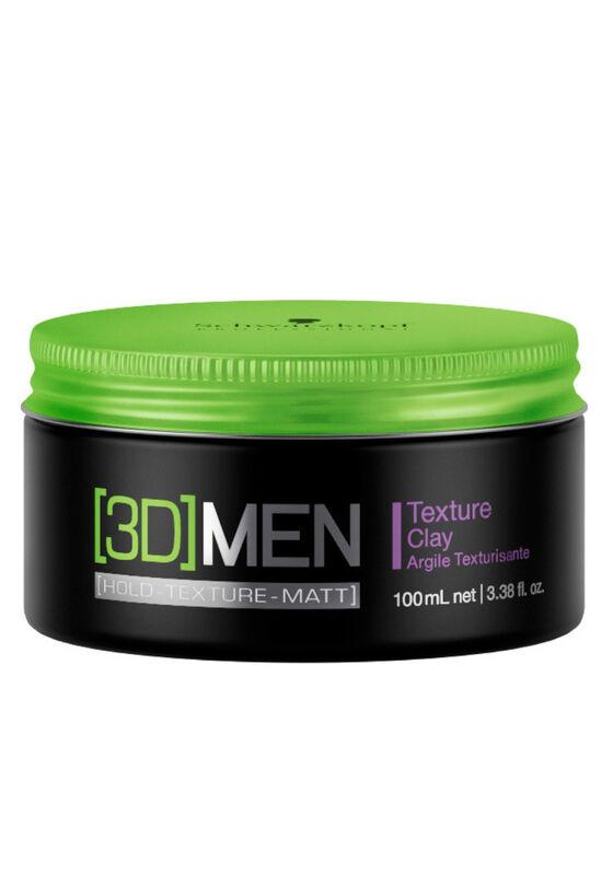 Schwarzkopf Professional Глина текстурирующая для волос для мужчин TEXTURE CLAY (Hold-Texture-Matt) серии [3D MEN], 100 мл - фото 1