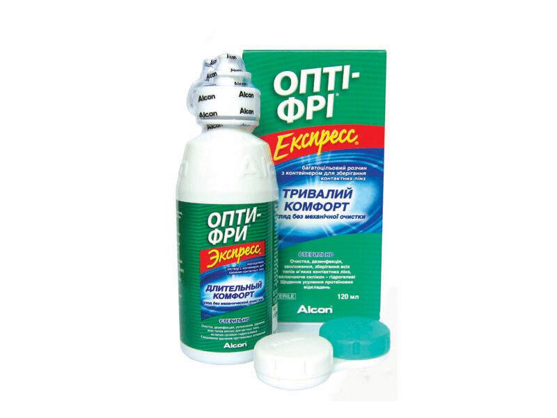 Средство по уходу и аксессуар для линз Alcon Opti-Free Express 120 мл - фото 1