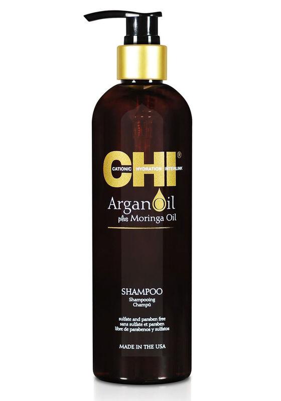 CHI Шампунь для волос на основе масел аргании и моринги Argan Oil Shampoo 340 мл - фото 1