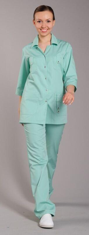 Доктор Стиль Блуза медицинская женская Лайм (лу1221) - фото 5