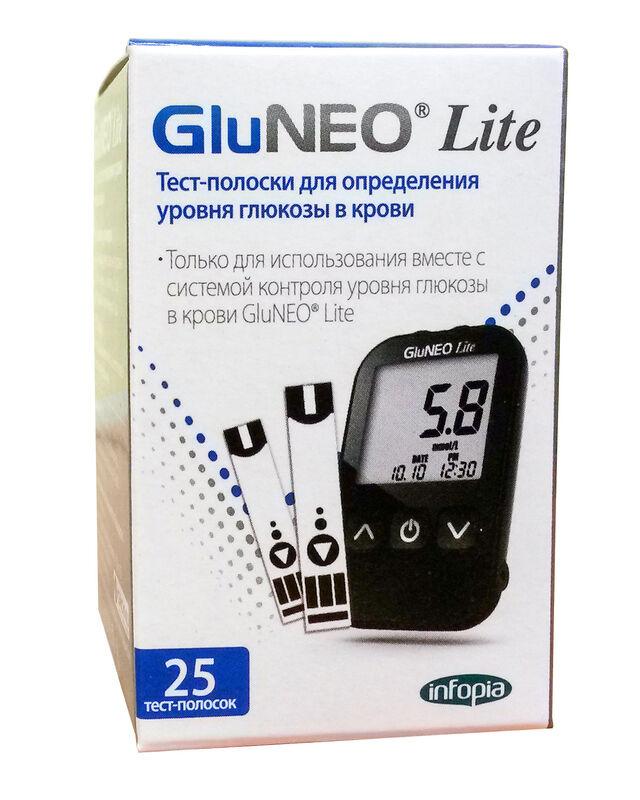 Infopia Тест-полоски GluNeo Lite (ГлюНео Лайт) 25шт. - фото 1