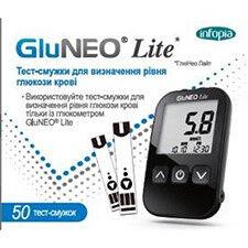 Глюкометр Infopia Тест-полоски GluNeo Lite (ГлюНео Лайт) 50шт. - фото 1