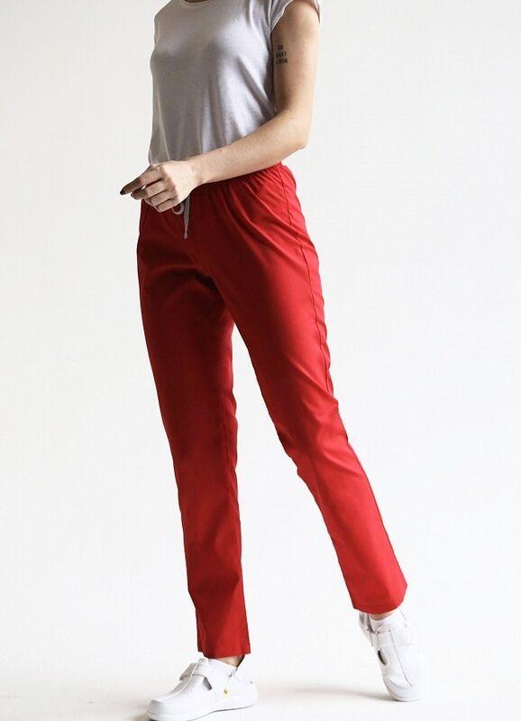 Доктор Стиль Медицинские брюки женские «Комфорт» красные Брю 3401.16 - фото 2
