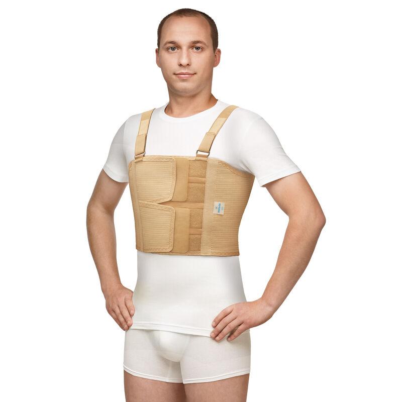 Польза Бандаж фиксирующий по линии груди мужской , 0117 - фото 1