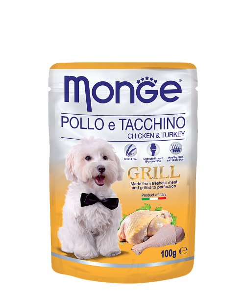 Monge Grill Pouch Chicken and Turkey 100гр. х 12 шт. - фото 1