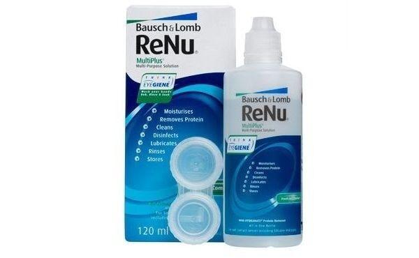 Средство по уходу и аксессуар для линз Bausch+Lomb ReNu MultiPlus 120 мл - фото 1