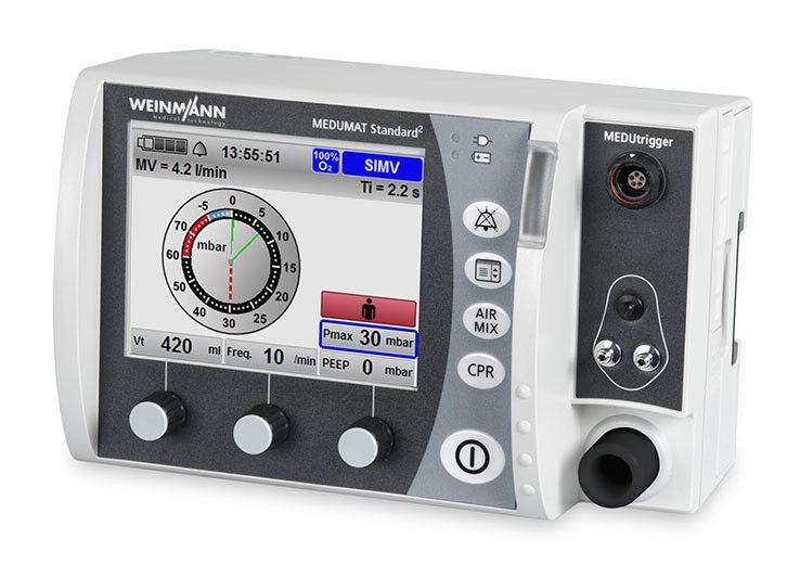 Медицинское оборудование Weinmann Высокофункциональный компактный аппарат ИВЛ для пользователей с различным уровнем квалификации Medumat Standard² - фото 1