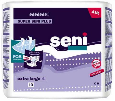 Seni Подгузники Super Plus, размер 4 (Extra Large), 10 - фото 1