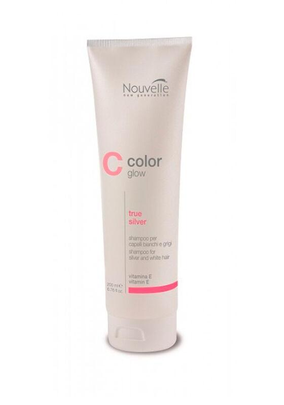 Nouvelle Шампунь для седых волос COLOR GLOW TRUE SILVER SHAMPOO 200 МЛ - фото 1