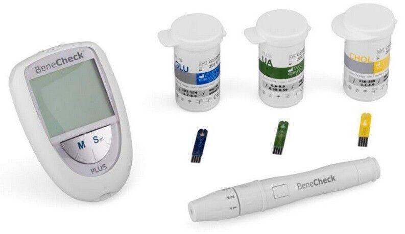 Система контроля крови General Life Biotechnology BeneCheck Plus контроль уровня Холестерина, Глюкозы, Мочевой кислоты - фото 2