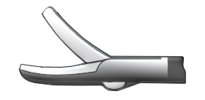 Медицинское оборудование ППП Ножницы изогнутые по плоскости однобраншевые правые Л-0049 - фото 1
