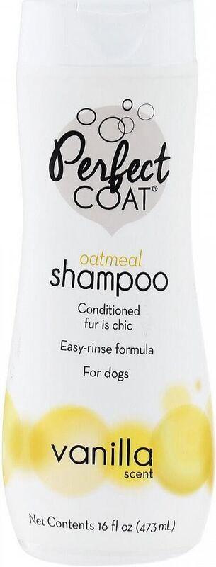 8 in 1 Шампунь для собак PC Natural Oatmeal овсяный успокаивающий для кожи с ароматом ванили - фото 1
