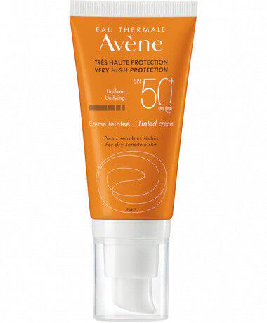 Avene Солнцезащитный крем с тонирующим эффектом SPF 50+(высокая степень защиты), 50 мл - фото 1