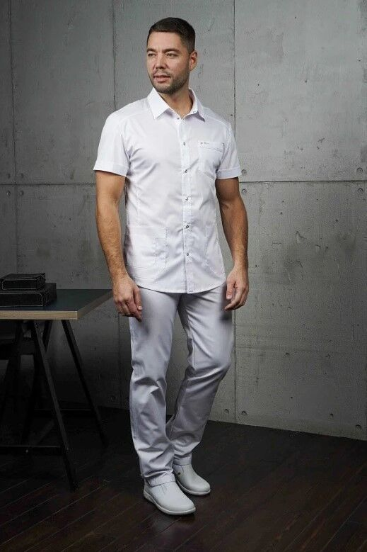 Доктор Стиль Медицинская блуза «Терапи» белая ЛС 3217.01 - фото 1