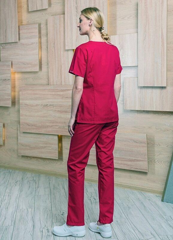 Доктор Стиль Медицинская блуза «Терра» красная ЛС 3229.16 - фото 3