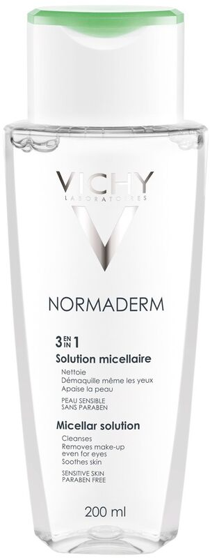 Vichy NORMADERM Мицеллярный лосьон для снятия макияжа 3 в 1, 200 мл - фото 1