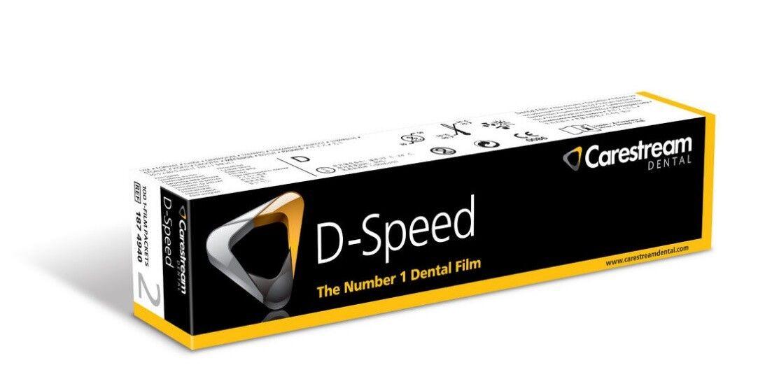 Стоматологическое оборудование Carestream Health, Inc. Дентальная рентгенография Плёнка интраоральная D-speed, (31мм*41мм), 100 листов - фото 1