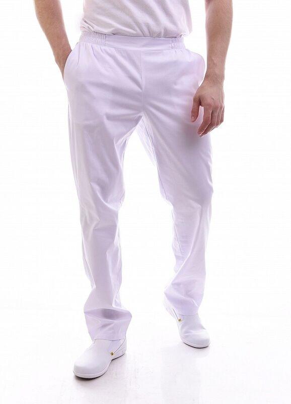 Доктор Стиль Медицинские брюки мужские «Комфорт» белые Брю 3408.01 - фото 1