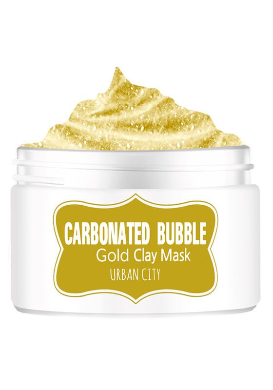 Baviphat Маска для лица глиняно-пузырьковая с золотом Urban City Carbonated Bubble Gold Mask 100мл - фото 1